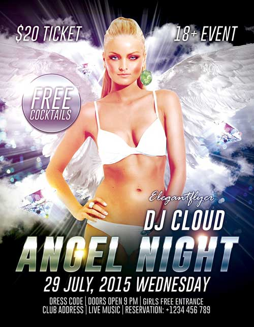 Free Angel Night PSD Flyer Template