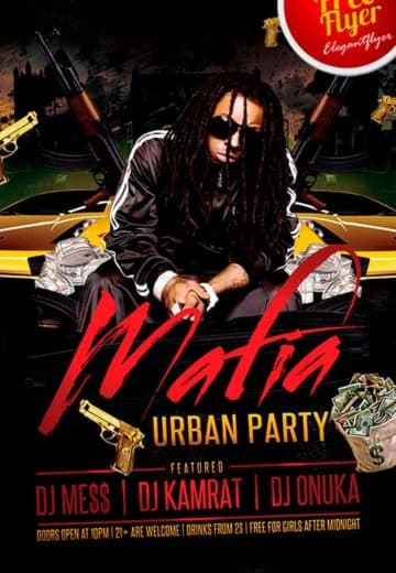 Free Hip Hop Urban Party PSD Flyer Template
