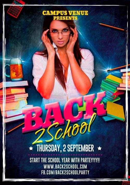 Free Back To School Party Flyer