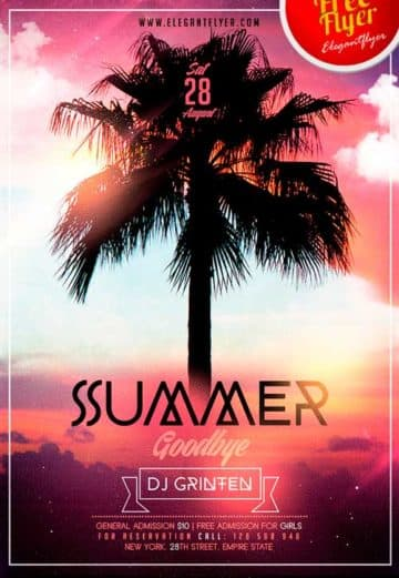 Goodbye Summer Free Flyer PSD Template