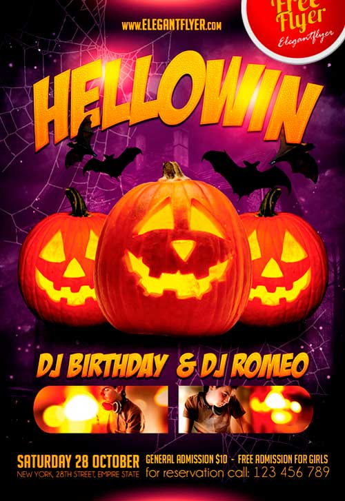 Halloween Party Free Flyer PSD Template