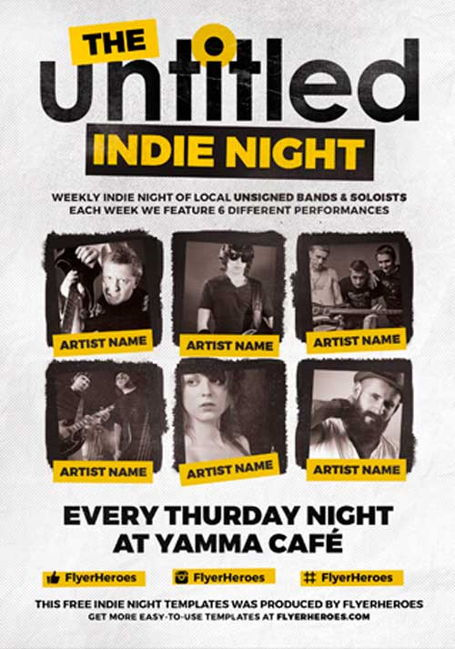 The Untitled Free Indie PSD Flyer Template