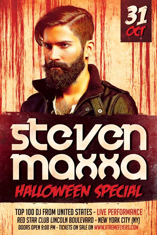free halloween dj flyer template - Free Halloween Flyer Templates
