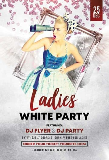 Free Ladies Party Flyer PSD Template
