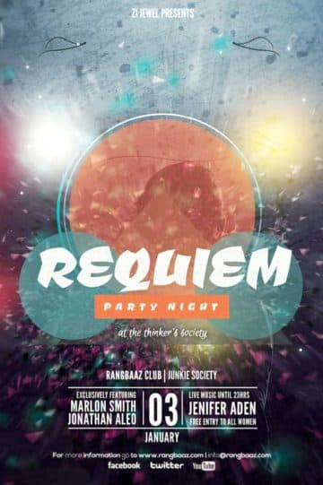 Free Requiem Party Flyer Template