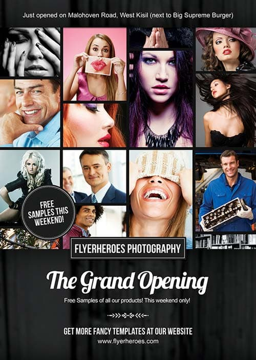Free Grand Opening Photography Flyer Template
