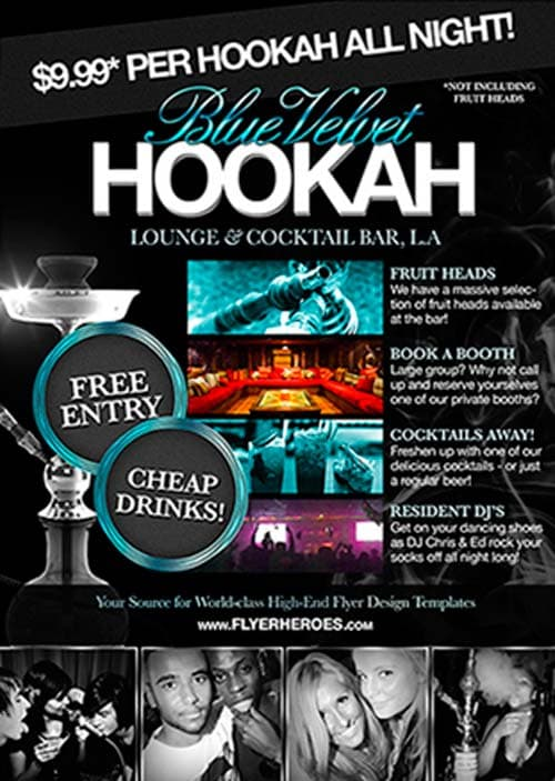 Free Hookah Lounge Flyer PSD Template