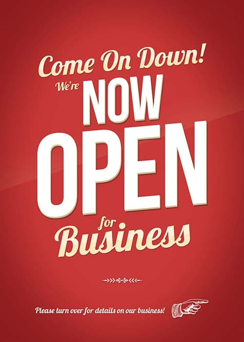 Free Shop Opening PSD Flyer Template