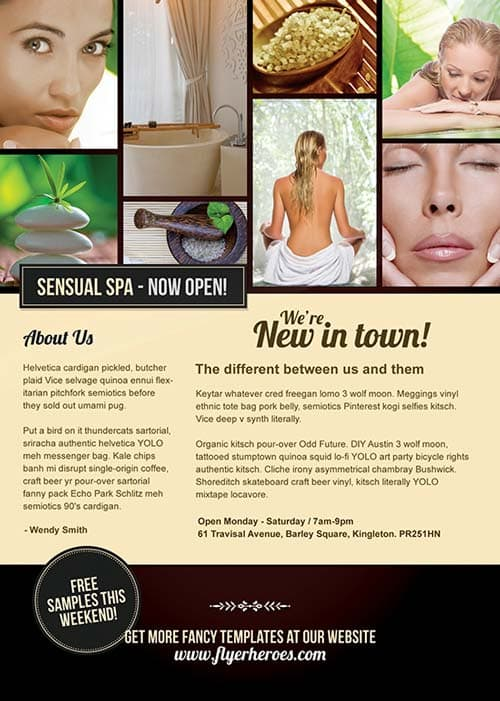 Free Sensual Spa Promotion Flyer PSD Template Download