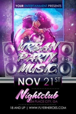 Free Urban Party Music Flyer Template