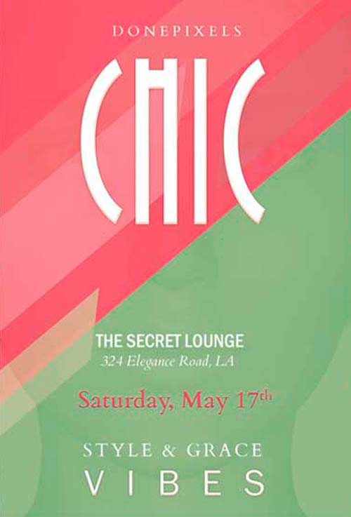 Freepsdflyer Download The Free Chic Party Flyer Psd Template For