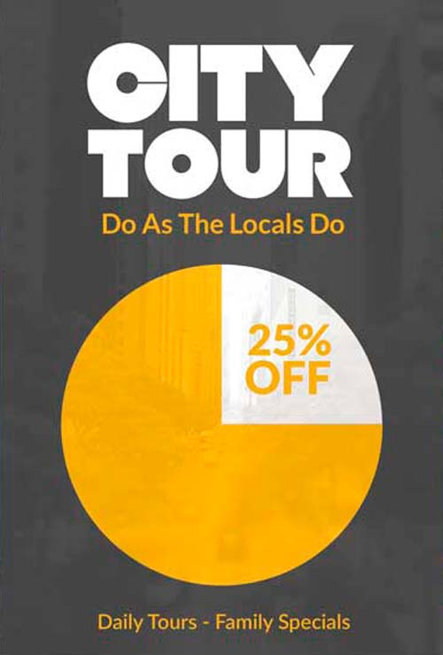 City Tour Pub Crawl Free Flyer PSD Template