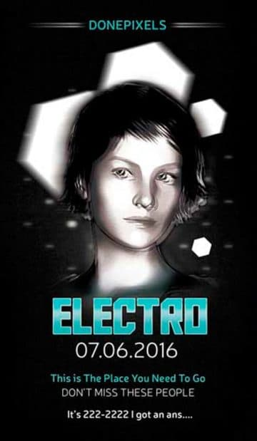 Free Electro Flyer PSD Template