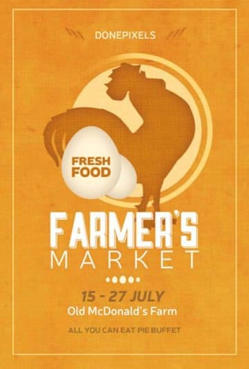 Farmers Market Free Flyer PSD Template