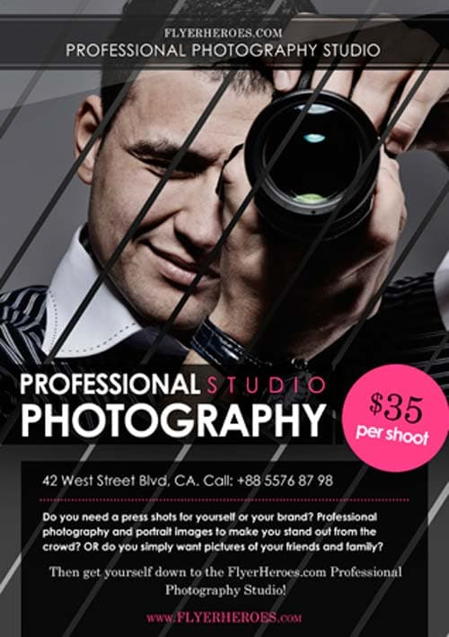 Download Free Photography Flyer Template For Photoshop  Psd Freebies