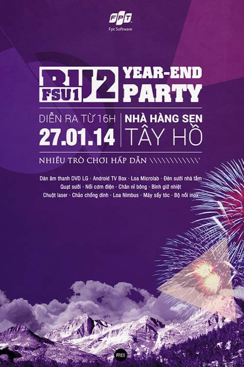 Year End Party Free PSD Flyer Template