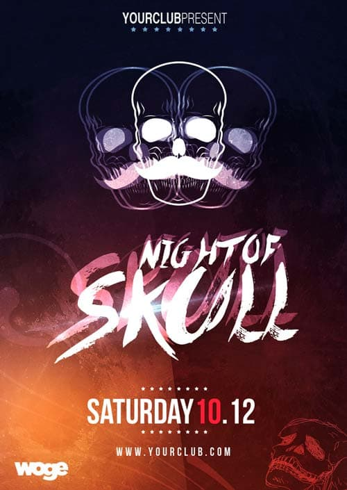 Free Halloween Night Flyer Template