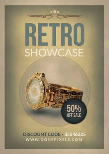 Retro Product Showcase Free Flyer PSD Template