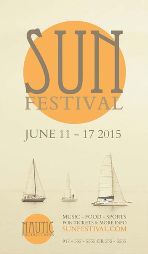 Free Sun Festival Flyer PSD Template