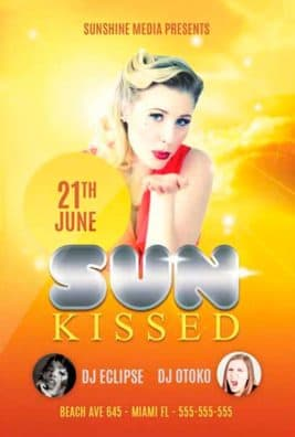 Sun Kissed Free Flyer PSD Template