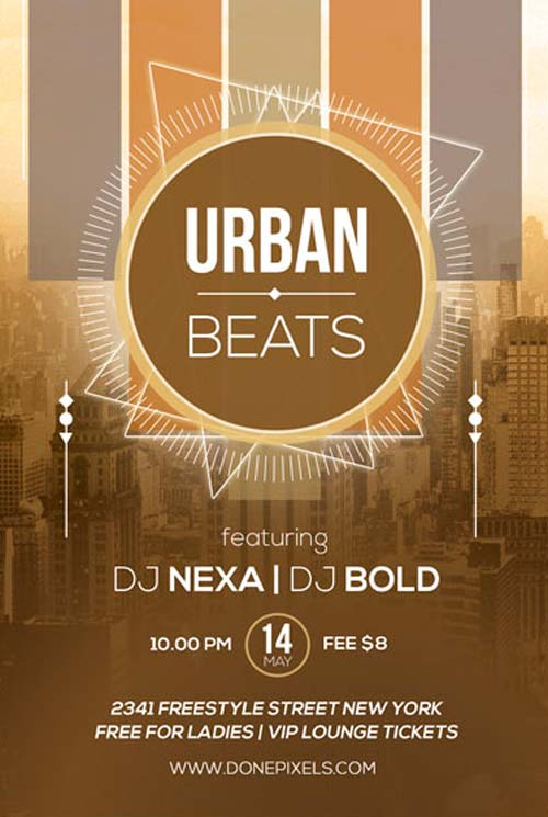 Urban Beats Free Flyer PSD Template