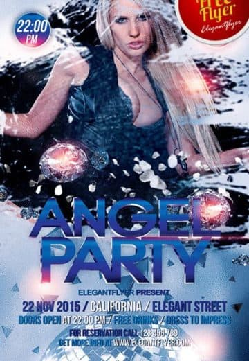 Angel Party Free PSD Flyer Template