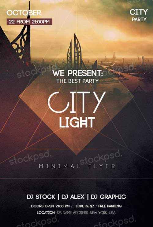 City Light Free PSD Flyer Template