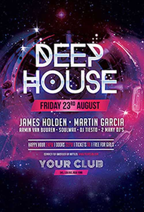 FreePSDFlyer | Download Deep House Free PSD Flyer Template for ...