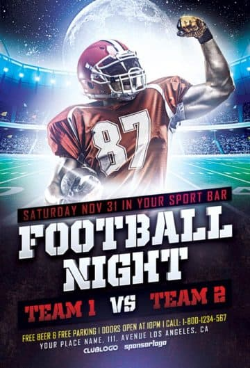 Football Sports Flyer PSD Template