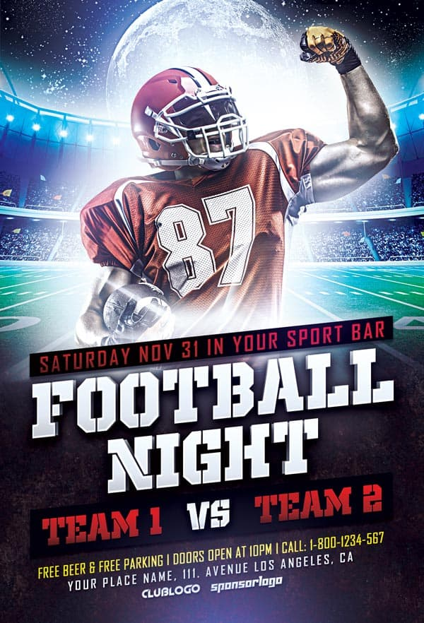 Superb Football Sports Flyer PSD Template