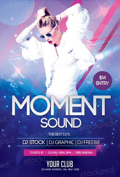 Moment Sound Free PSD Flyer Template