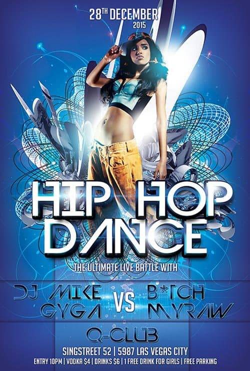 Download Free Hip Hop Dance Flyer Template