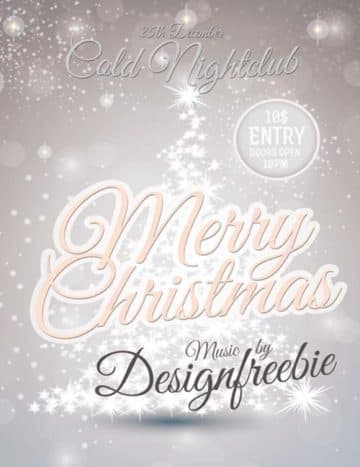 Snowy Christmas Party Free PSD Flyer Template