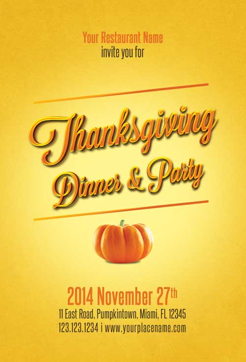 Download free thanksgiving flyer template for Free thanksgiving templates for word