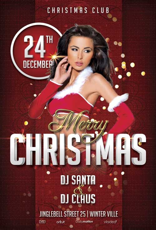 Merry Christmas Free Party Flyer Template