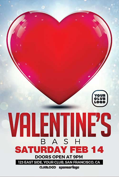 Download Free Valentines Day Flyer PSD Templates for ...