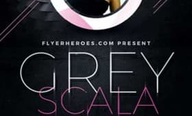 Grey Scala Party Free Flyer Template