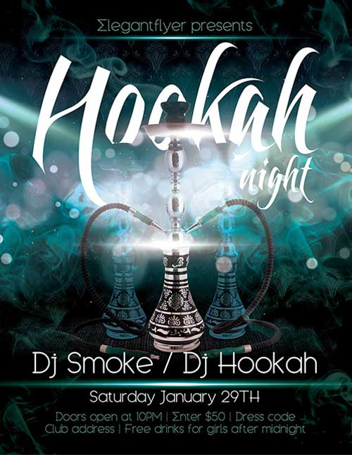 Hookah Night Free PSD Flyer Template