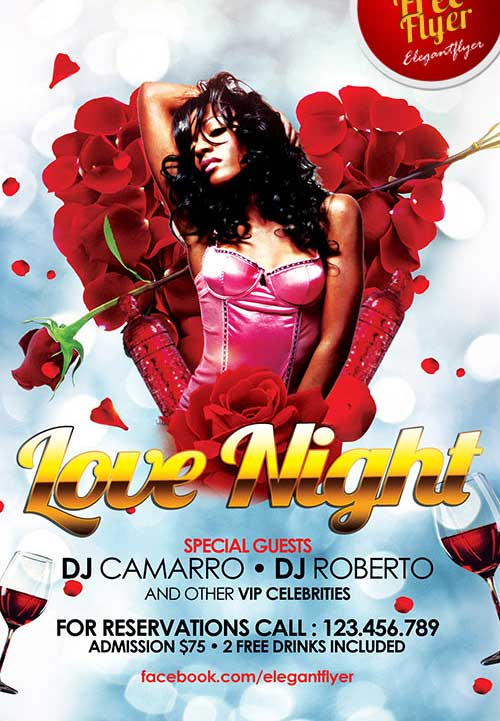 Love Night Free PSD Flyer Template