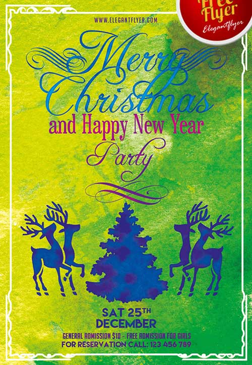 Merry Christmas Free Flyer PSD Template