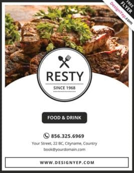 Free Restaurant Menu PSD Flyer Template