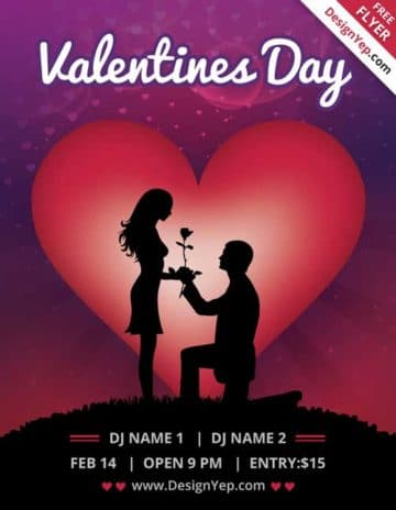 Valentines Day Free Flyer Template