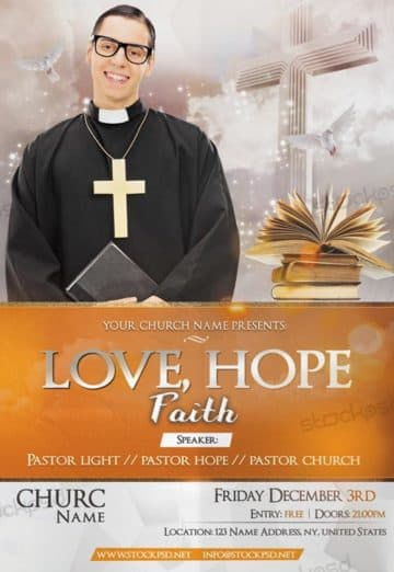 Hope & Faith Church Free PSD Flyer Template