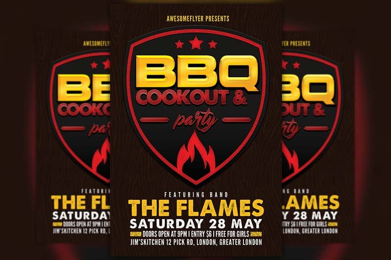 BBQ Cookout Free Flyer Template
