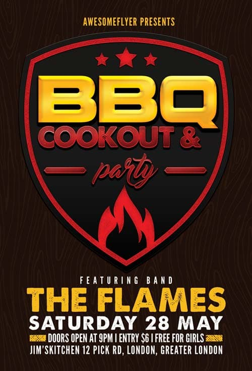 Freepsdflyer Download Bbq Cookout Free Flyer Template