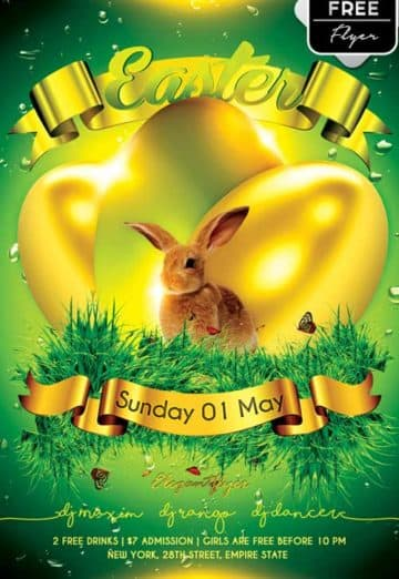 Easter Party Free PSD Flyer Template