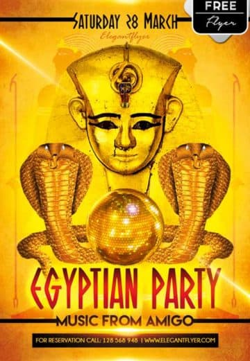 Egyptian Party Free PSD Flyer Template