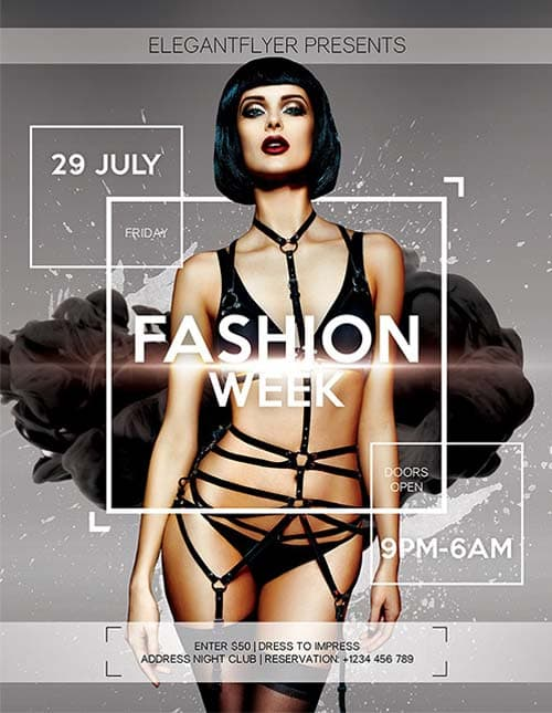 Free Fashion Show Flyer Template Psd