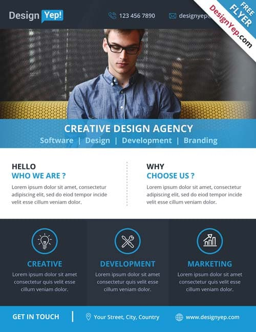 Corporate Business Agency Free PSD Flyer Template