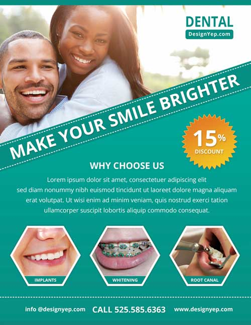 Download Free Dental Care PSD Flyer Template – Flyer Samples